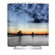 Layered Color Shower Curtain