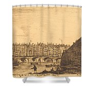Le Pont-au-change, Paris, Vers 1784 Shower Curtain