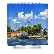 Leaving Gotland Shower Curtain