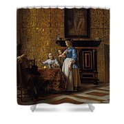 Leisure Time In An Elegant Setting Shower Curtain