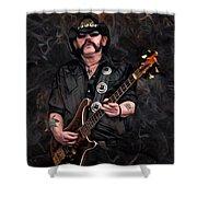 Lemmy Kilmister With Guitar Shower Curtain