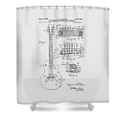 Les Paul  Guitar Patent From 1955 Shower Curtain