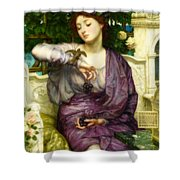 Lesbia And Her Sparrow Shower Curtain