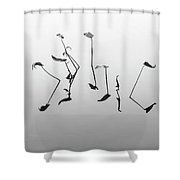 Lets Dance Again Shower Curtain