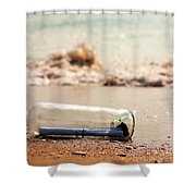 Letter In A Bottle Shower Curtain
