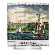 Liberia: Freed Slaves 1832 Shower Curtain