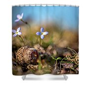 Life Delicate And Strong Shower Curtain
