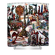 Life In Palestine Shower Curtain