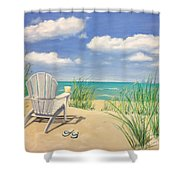 Life Is A Beach Shower Curtain