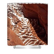 Light And Shadow In Mud Shower Curtain