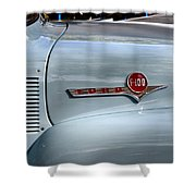 Light Blue Ford Pickup Shower Curtain