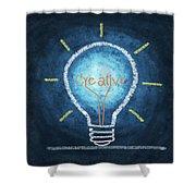 Light Bulb Design Shower Curtain by Setsiri Silapasuwanchai