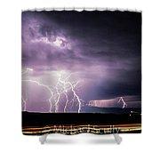 Light Show 002 Shower Curtain