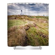 Lighthouse And Cliffs Shower Curtain