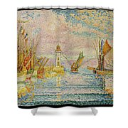 Lighthouse At Groix Shower Curtain