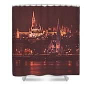 Lights Of Budapest Shower Curtain