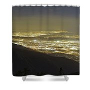 Lights Of Los Angeles, California Shower Curtain