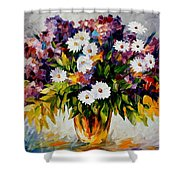Lilac And Camomiles Shower Curtain