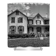 Lincoln Cottage In Black And White Shower Curtain