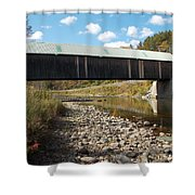 Lincoln Covered Bridge Shower Curtain