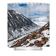 Lincoln Peak Winter Landscape Shower Curtain