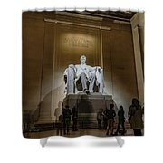 Lincoln Statue Shower Curtain