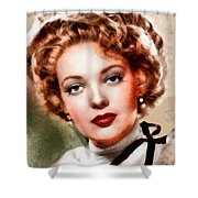 Linda Darnell, Vintage Hollywood Actress Shower Curtain