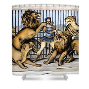 Lion Tamer, 1873 Shower Curtain