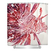 Lionfish Shower Curtain by Tanya L Haynes - Printscapes