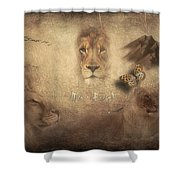 Lions Shower Curtain