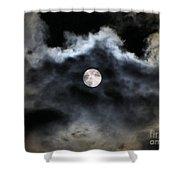 Lisas Wildlife Moons 2 Shower Curtain