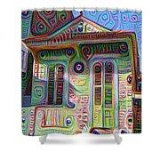 Little House On Bourbon Street Shower Curtain