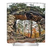 Little Pravcice Gate - Famous Natural Sandstone Arch Shower Curtain