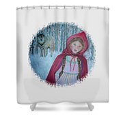 Little Red Riding Hood  Shower Curtain by The Art With A Heart By Charlotte Phillips