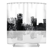 Little Rock Arkansas Skyline Shower Curtain
