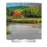 Llanrwst Bridge And Tea Room Shower Curtain