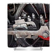 Locomotive Wheel Shower Curtain