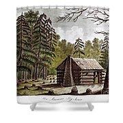 Log Cabin, 1826 Shower Curtain