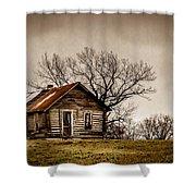 Log Cabin Shower Curtain