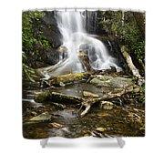 Log Hollow Falls North Carolina Shower Curtain