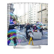 London Bubbles 8 Shower Curtain