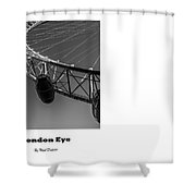 London Eye, London, Uk. Shower Curtain