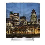 London Financial District Shower Curtain