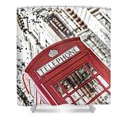 London Telephone 3b Shower Curtain