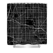 Long Beach California Usa Dark Map Shower Curtain