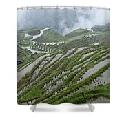 Longsheng Rice Terraces Shower Curtain