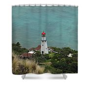 Looking Down At The Lighthouse Shower Curtain