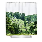 Looking Up At Little Round Top Shower Curtain