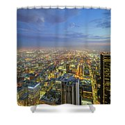 Los Angeles Downtown Nightscape Shower Curtain