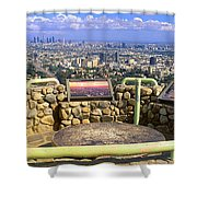 Los Angeles Skyline From Mulholland Shower Curtain